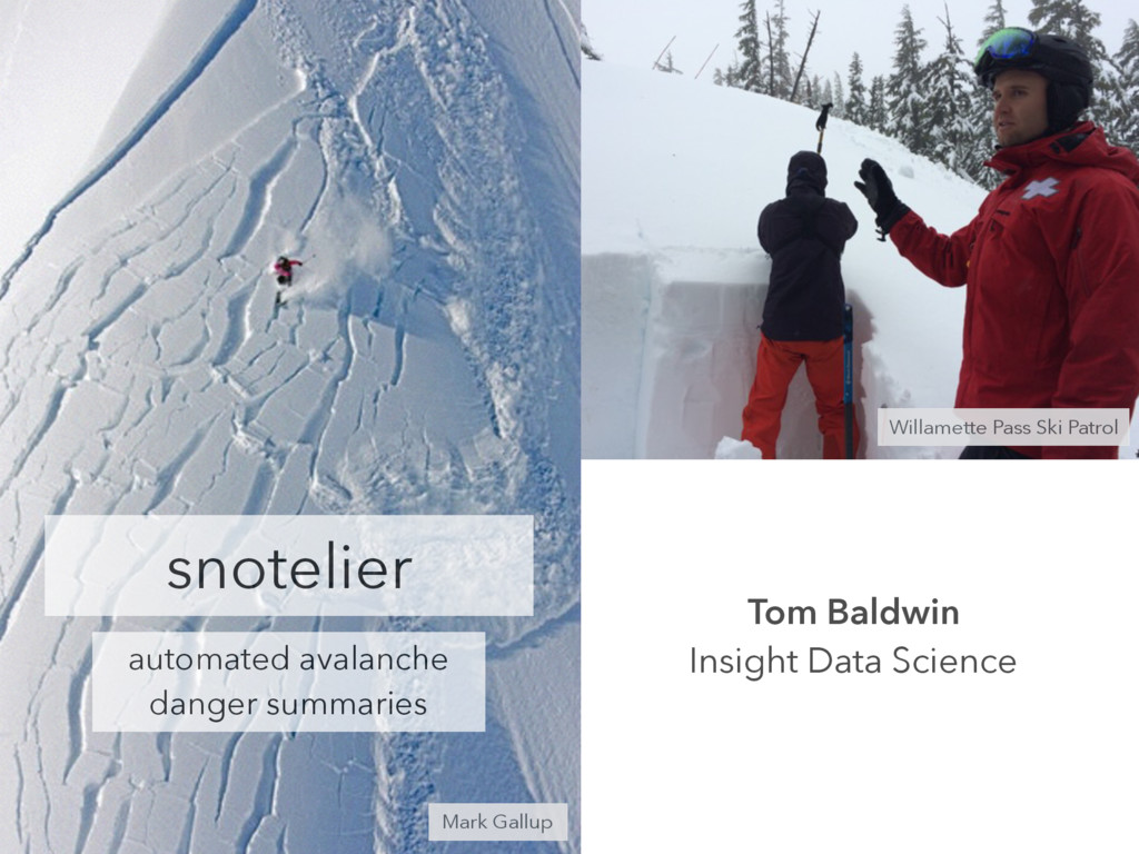 snotelier automated avalanche danger summaries ...