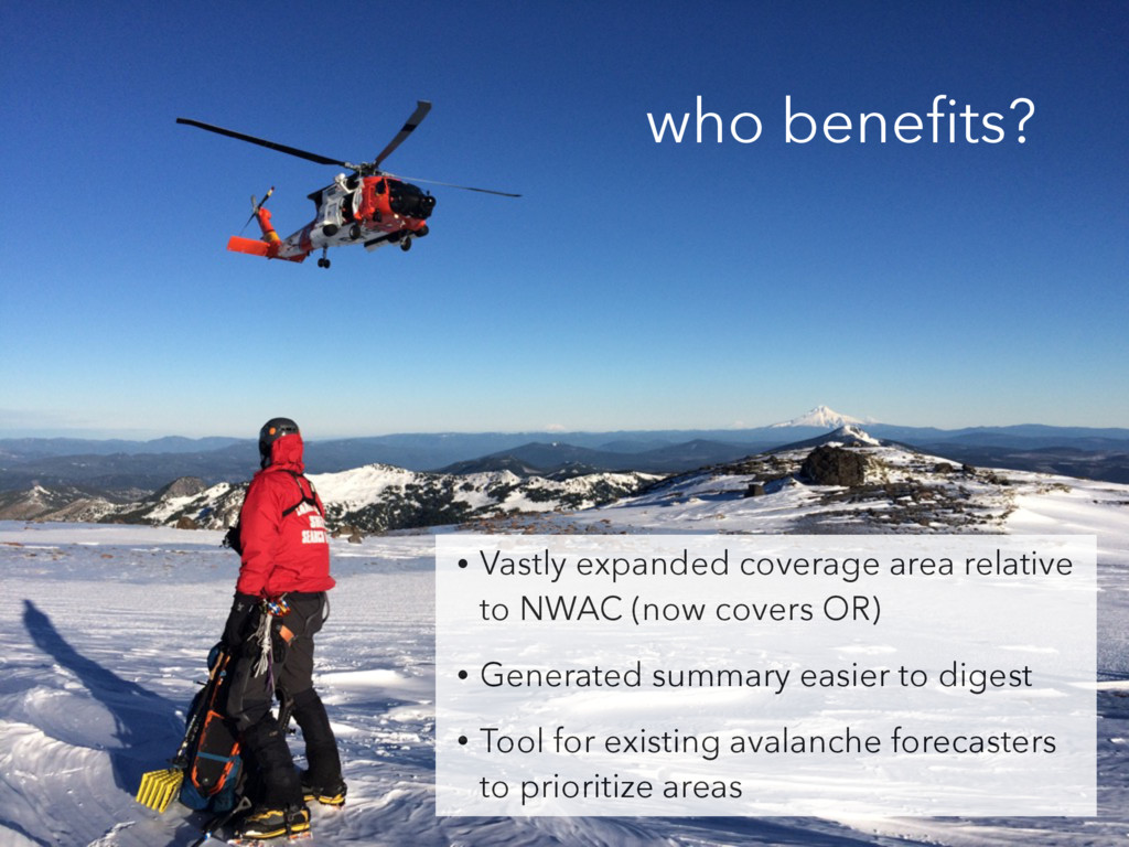 who benefits? • Vastly expanded coverage area re...
