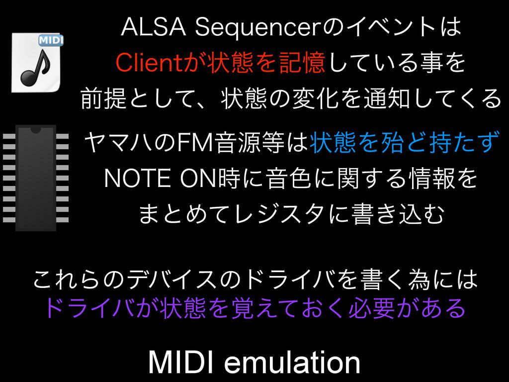 MIDI emulation ϠϚϋͷ'.Իݯঢ়ଶΛຆͲͨͣ /05&0/ʹԻ৭ʹ...
