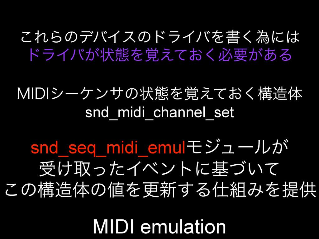 MIDI emulation ͜ΕΒͷσόΠεͷυϥΠόΛॻ͘ҝʹ υϥΠό͕ঢ়ଶΛ֮͑ͯ...