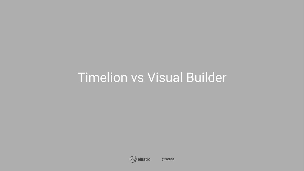 Timelion vs Visual Builder ̴̴@xeraa