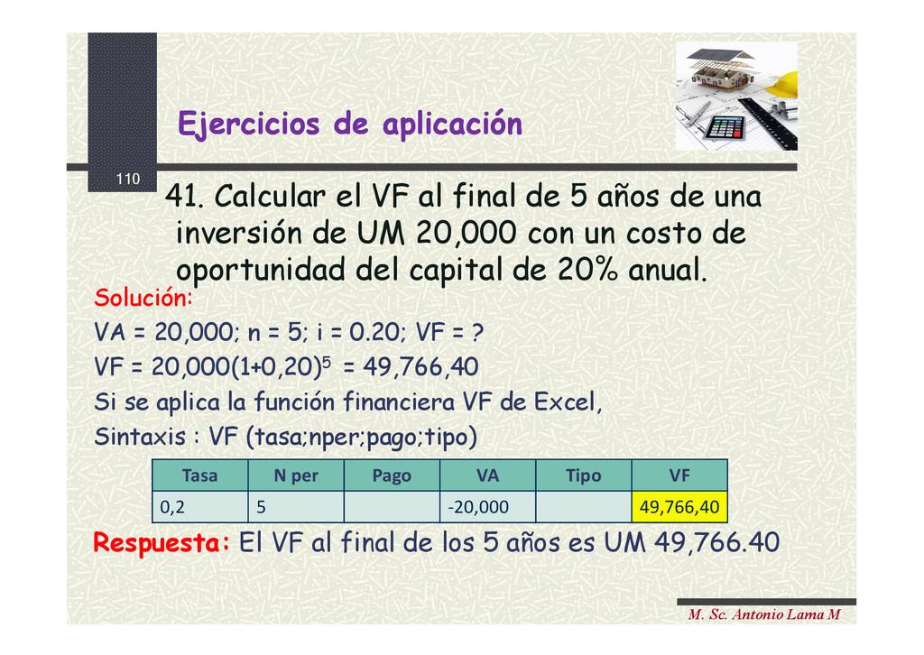 110 M. Sc. Antonio Lama M Ejercicios de aplicac...