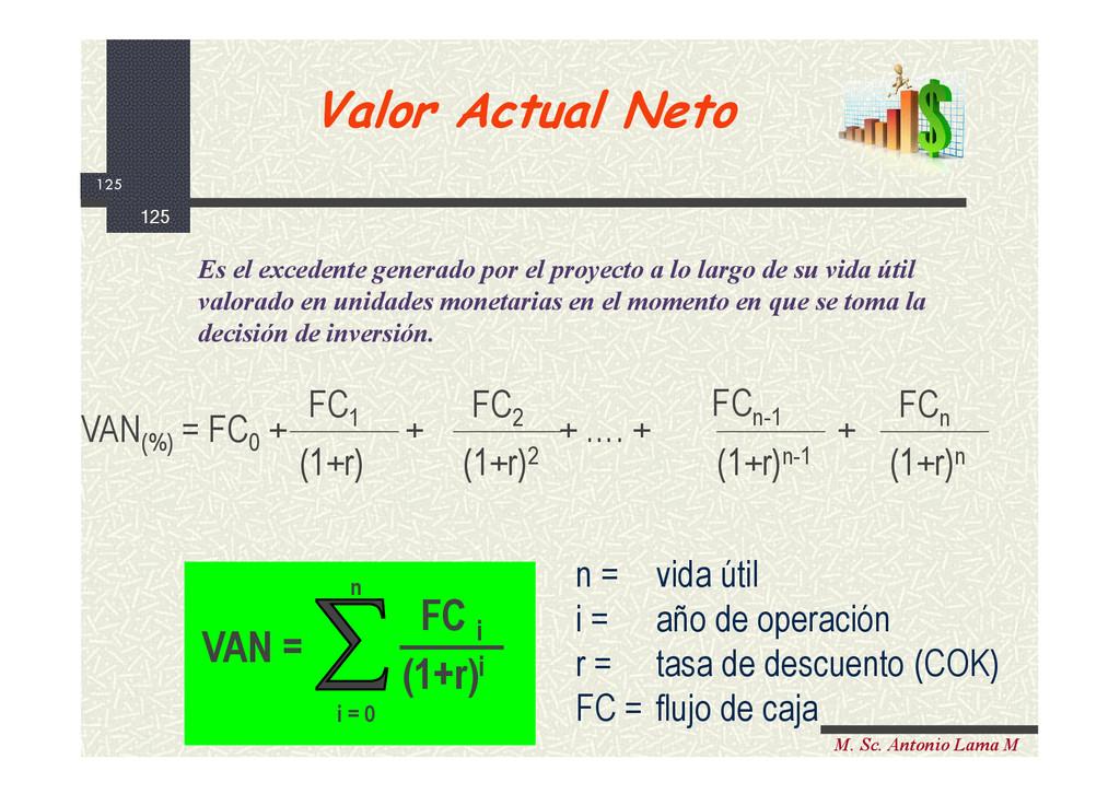 125 M. Sc. Antonio Lama M n = vida útil i = año...