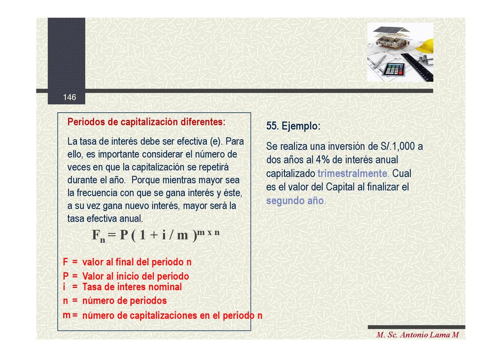 146 M. Sc. Antonio Lama M Periodos de capitaliz...