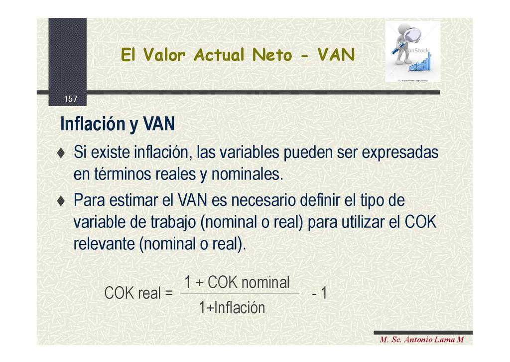 157 M. Sc. Antonio Lama M El Valor Actual Neto ...