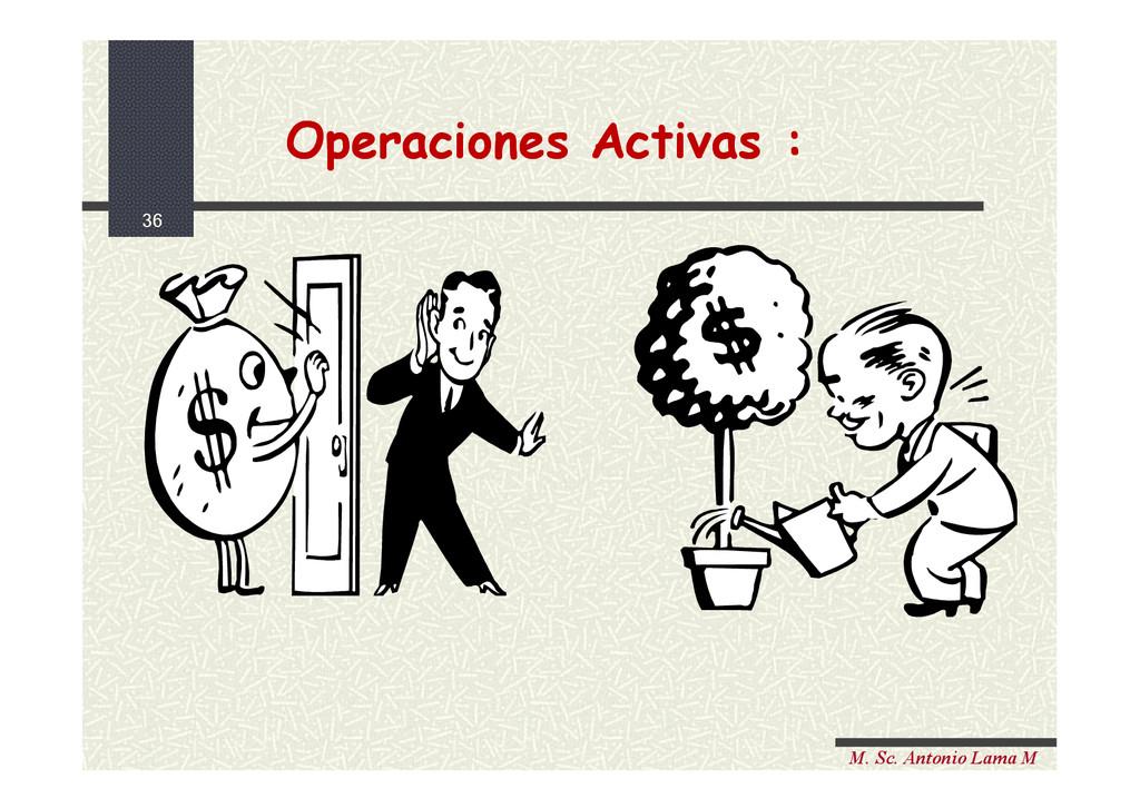 36 M. Sc. Antonio Lama M Operaciones Activas : ...