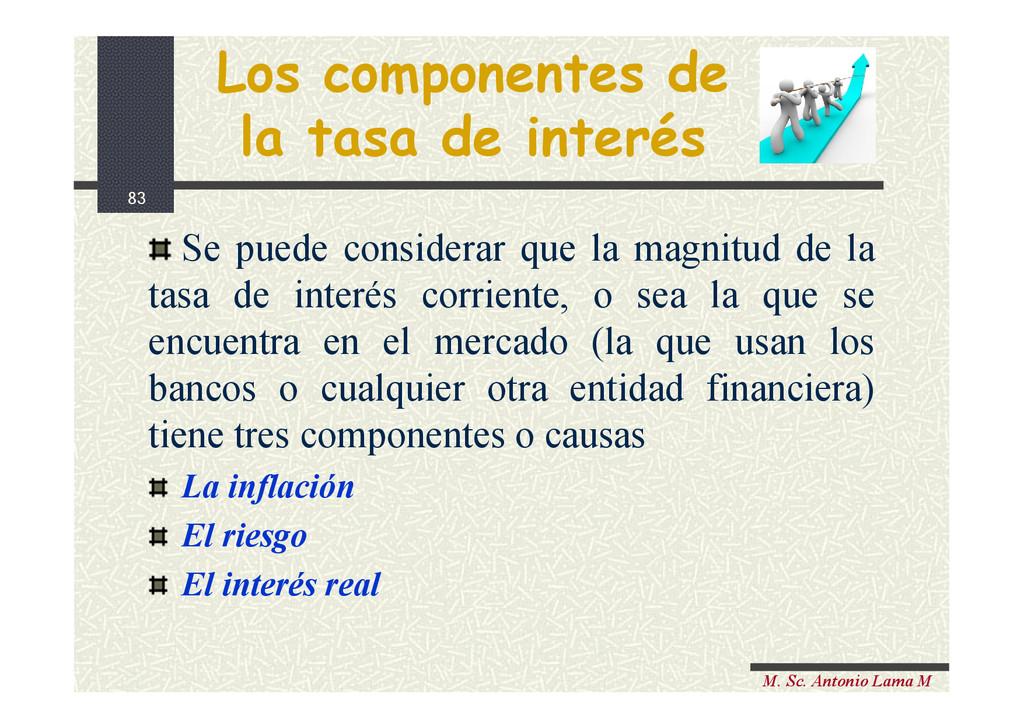83 M. Sc. Antonio Lama M Los componentes de la ...