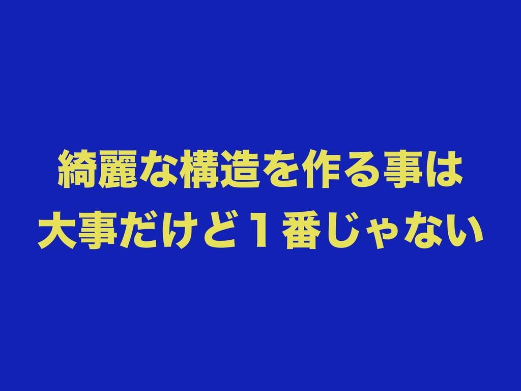 ៉ྷͳߏΛ࡞Δ େ͚ͩͲ̍൪͡Όͳ͍