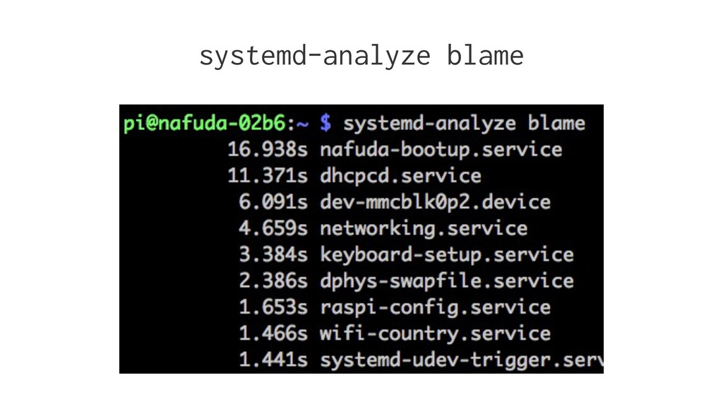 systemd-analyze blame