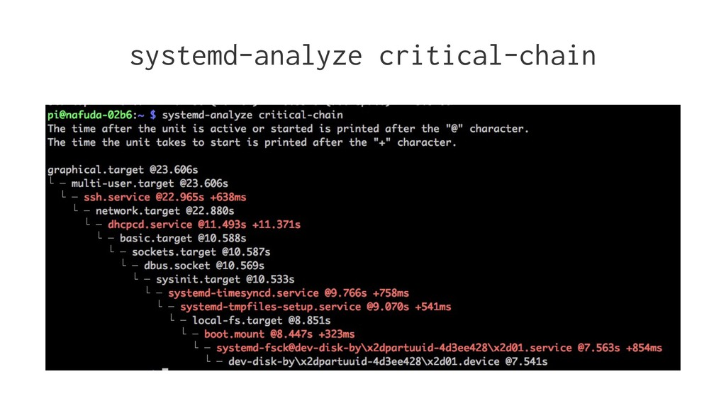 systemd-analyze critical-chain