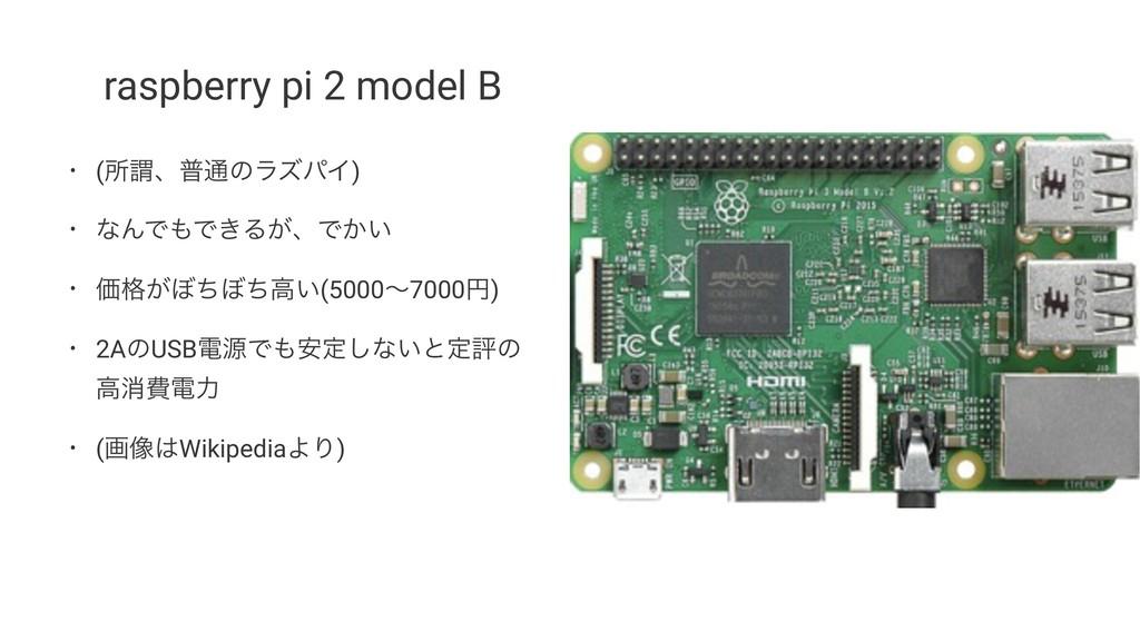 raspberry pi 2 model B • (ॴҦɺී௨ͷϥζύΠ) • ͳΜͰͰ͖Δ...