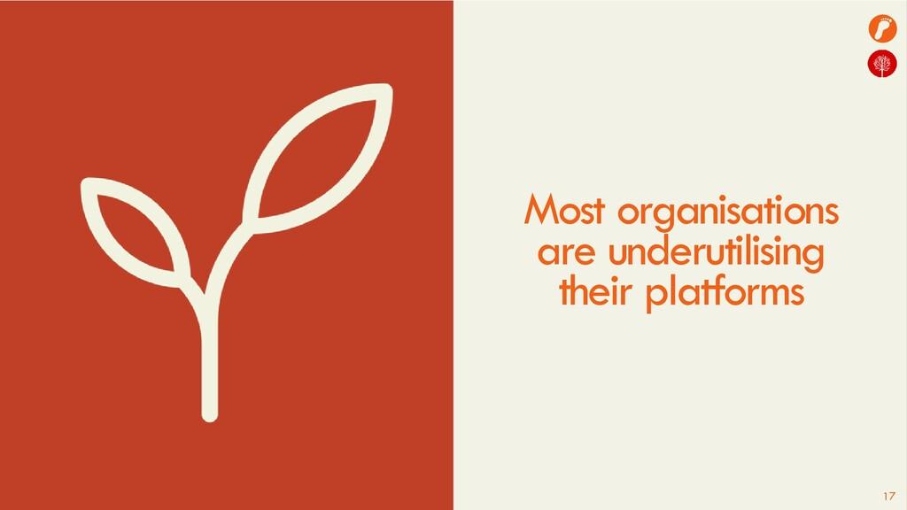 17 Most organisations are underutilising their ...