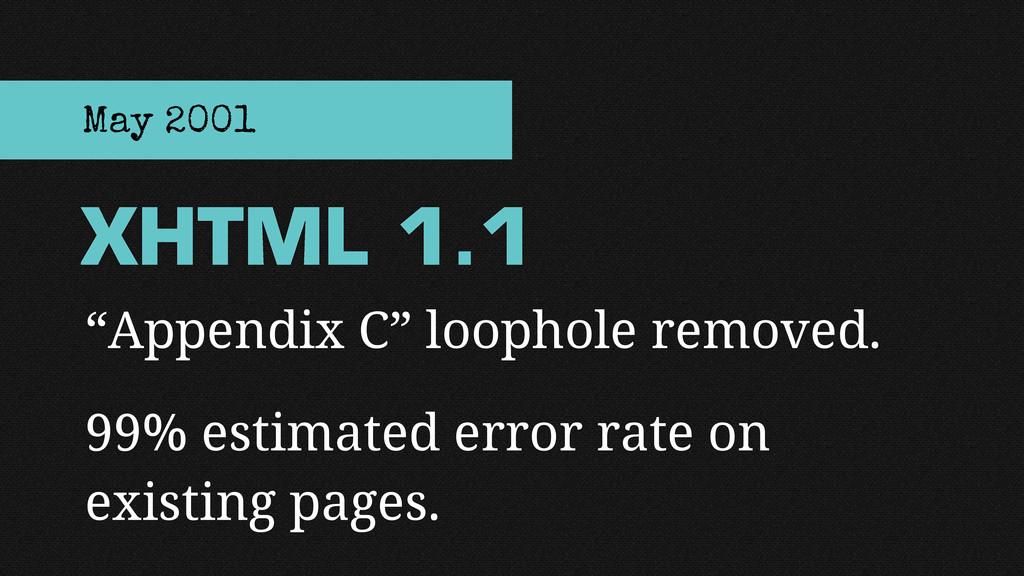 """Appendix C"" loophole removed. 99% estimated er..."