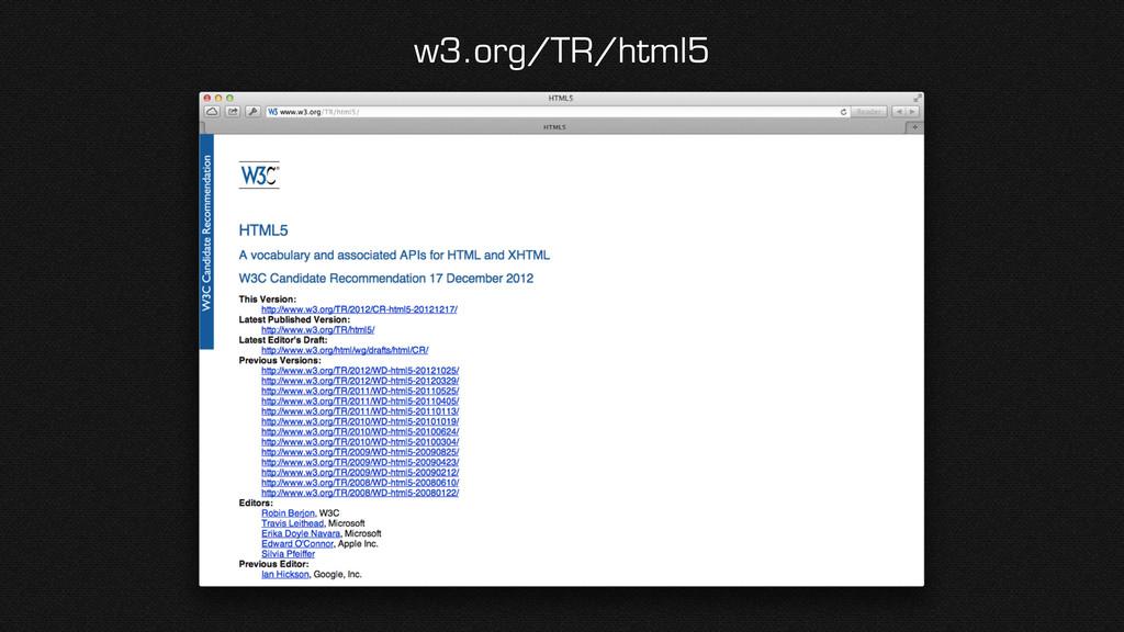 w3.org/TR/html5