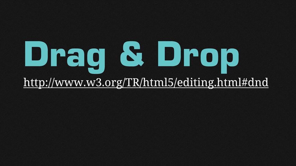 Drag & Drop http://www.w3.org/TR/html5/editing....