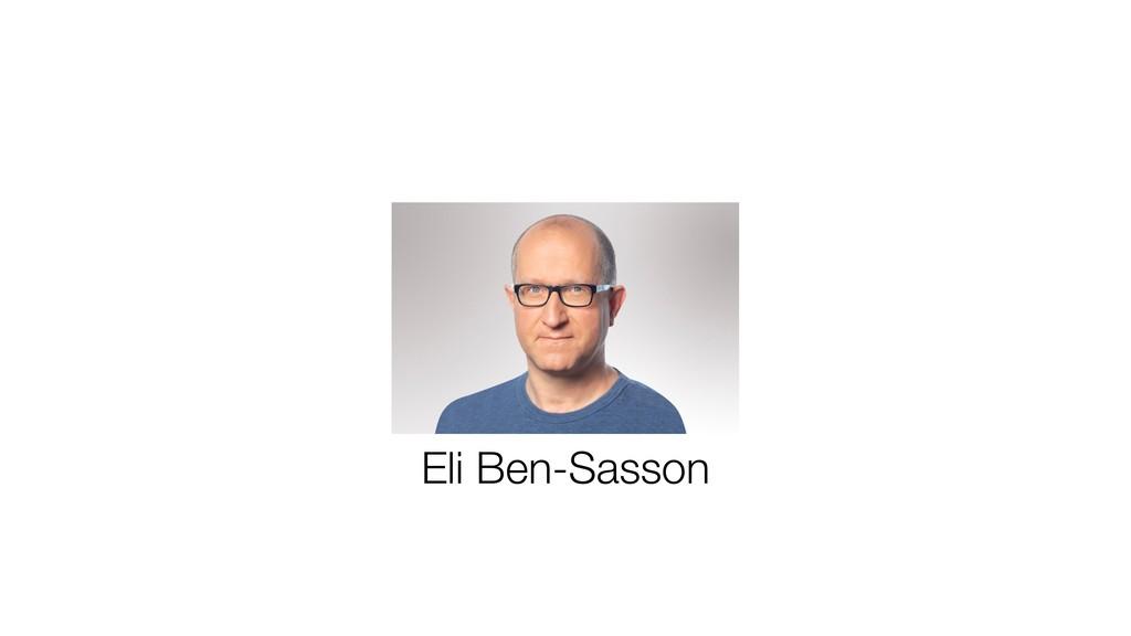 Eli Ben-Sasson