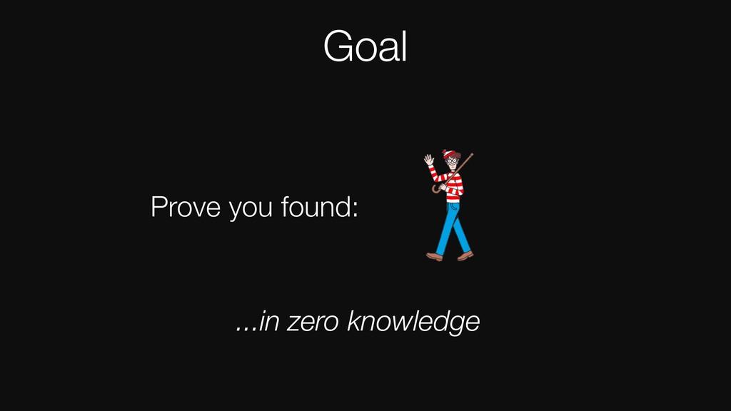 Goal Prove you found: Goal Prove you found: ......
