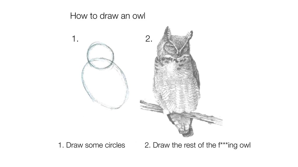 How to draw an owl 1. 2. 1. Draw some circles 2...