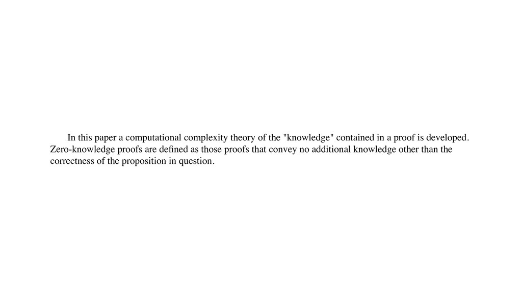 In this paper a computational complexity theory...