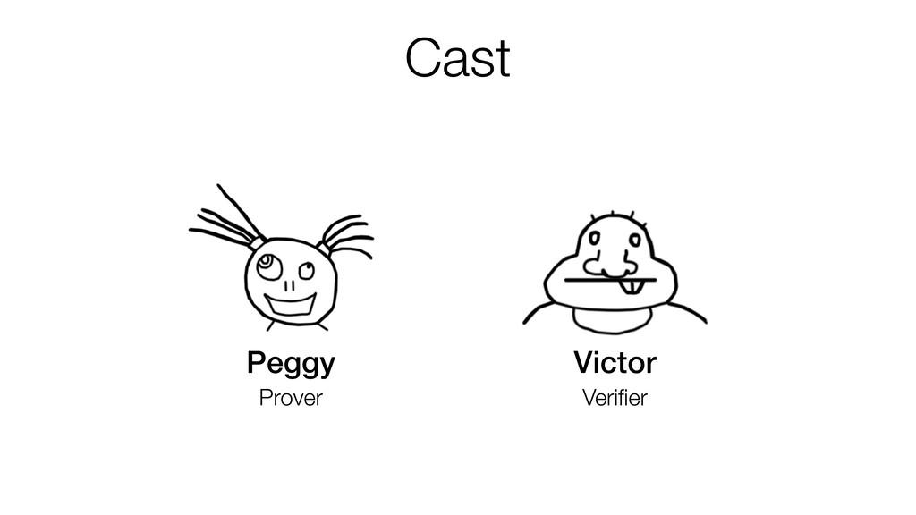Cast Peggy Prover Victor Verifier