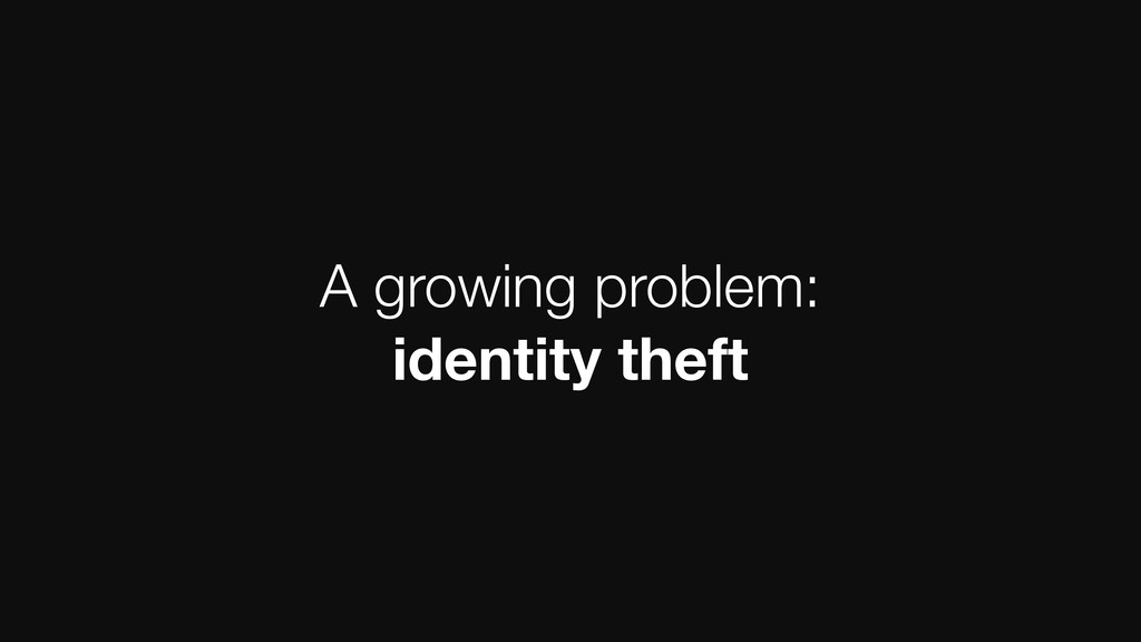 A growing problem: identity theft