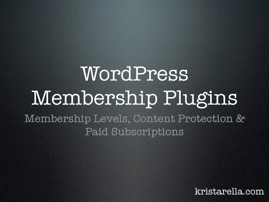 WordPress Membership Plugins Membership Levels,...