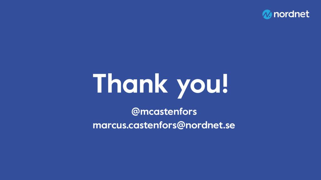 Thank you! @mcastenfors marcus.castenfors@nordn...