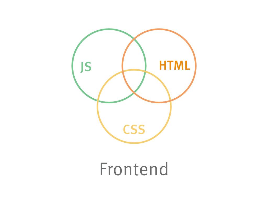 HTML JS CSS Frontend