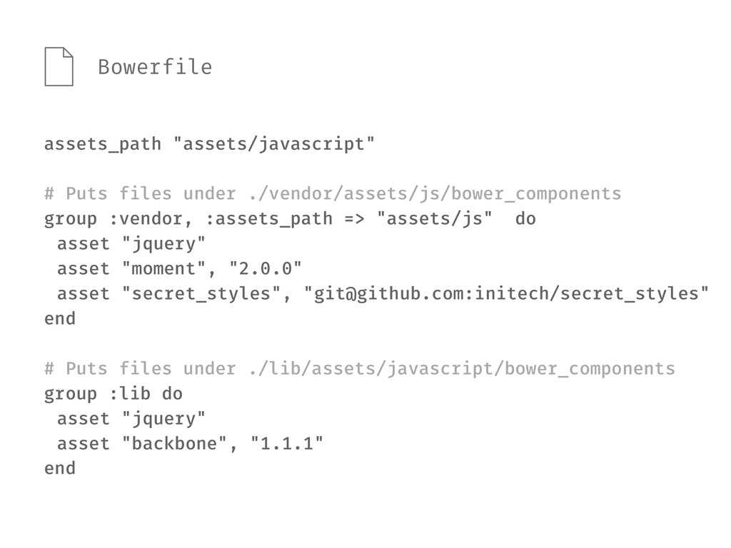 "assets_path ""assets/javascript"" # Puts files un..."