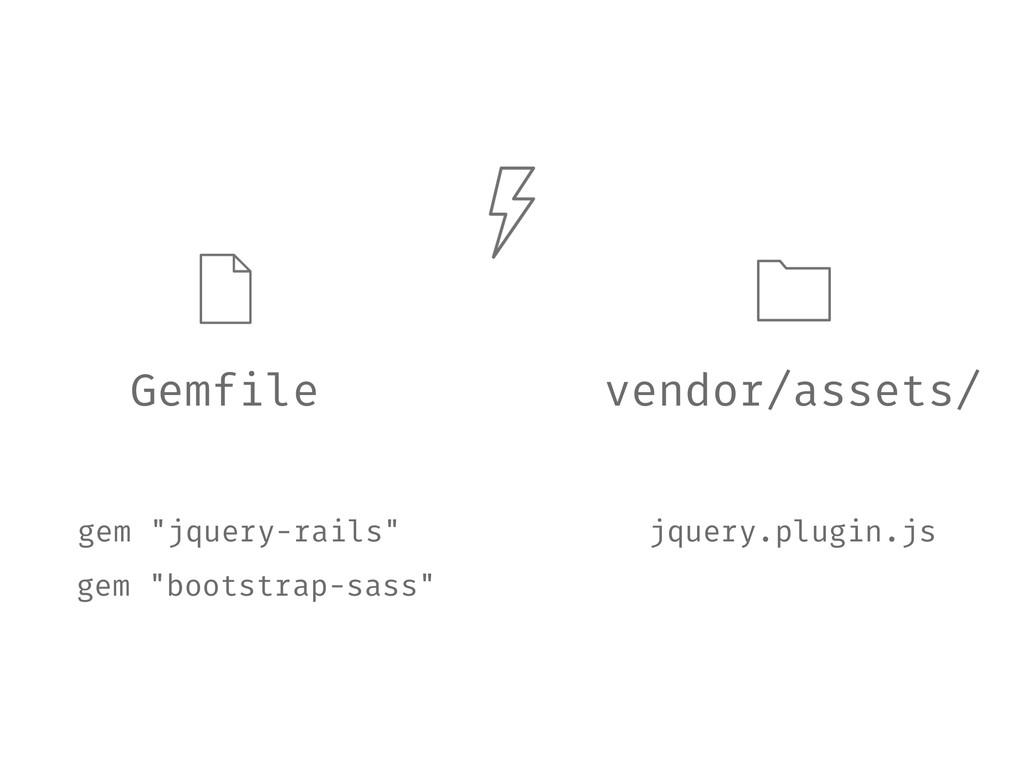 """Gemfile gem """"jquery-rails"""" vendor/assets/ jquer..."""