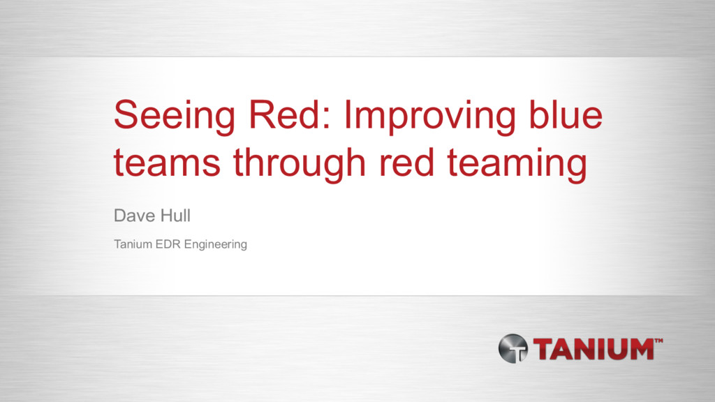 Seeing Red: Improving blue teams through red te...