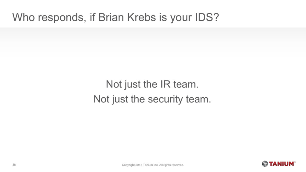 Who responds, if Brian Krebs is your IDS? Not j...