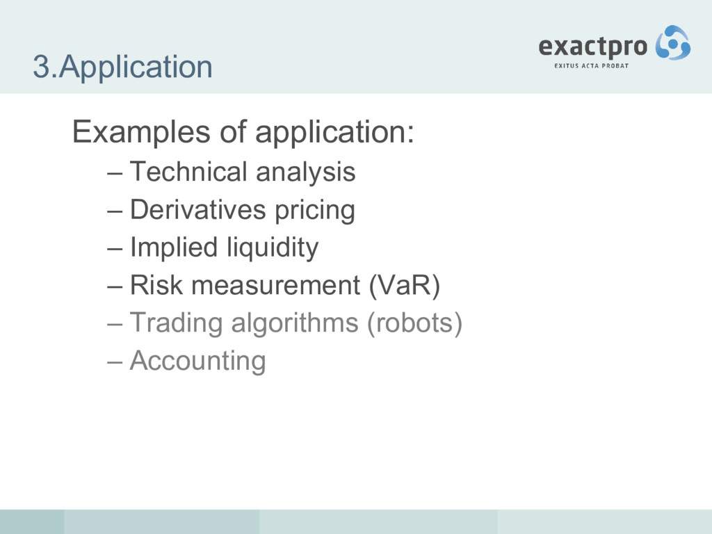 3.Application Examples of application: – Techni...
