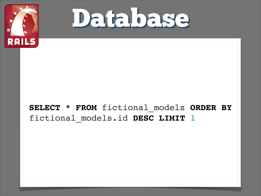 Database SELECT * FROM fictional_models ORDER B...