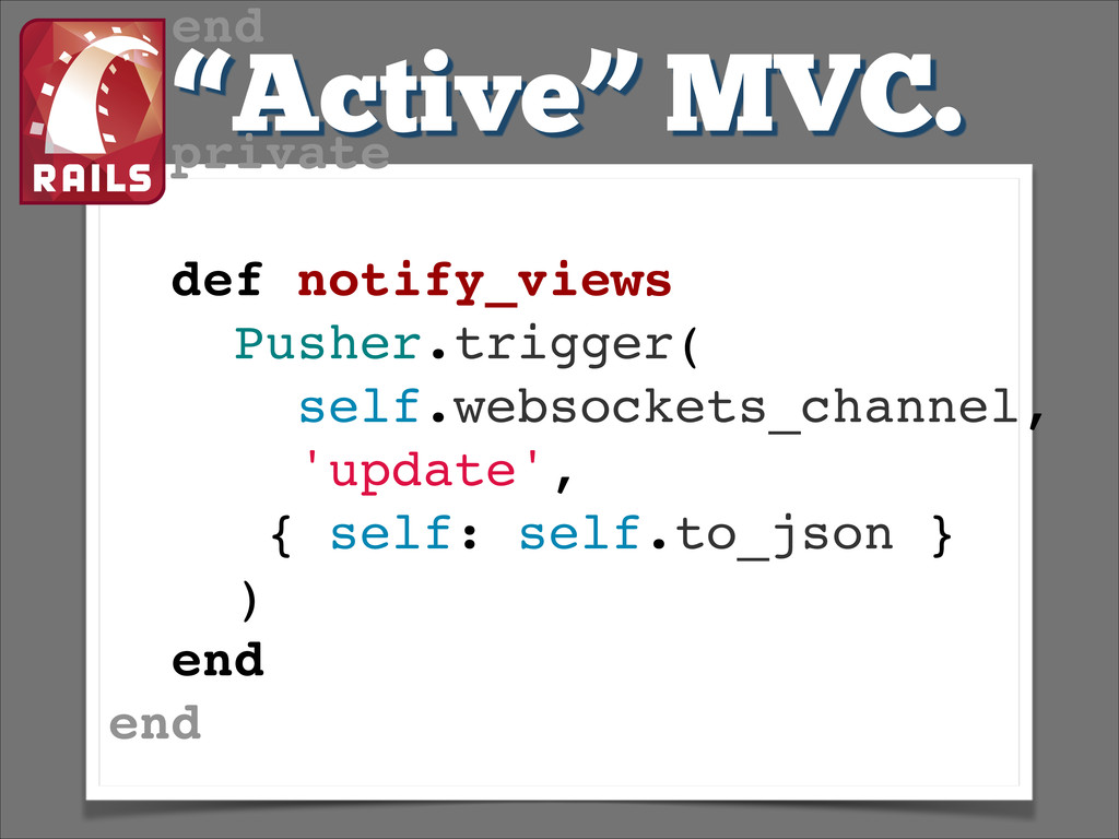 """Active"" MVC. end! ! private! ! def notify_view..."