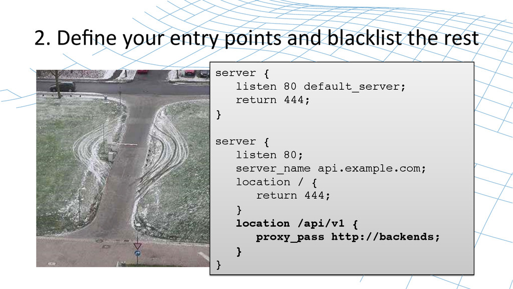 2. Define your entry points and...