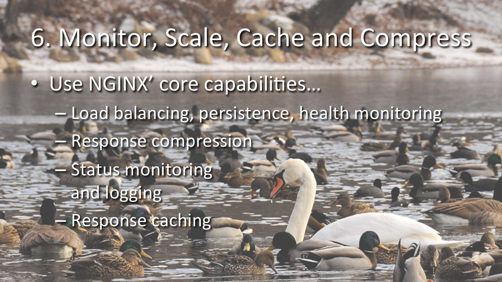 6. Monitor, Scale, Cache and Com...