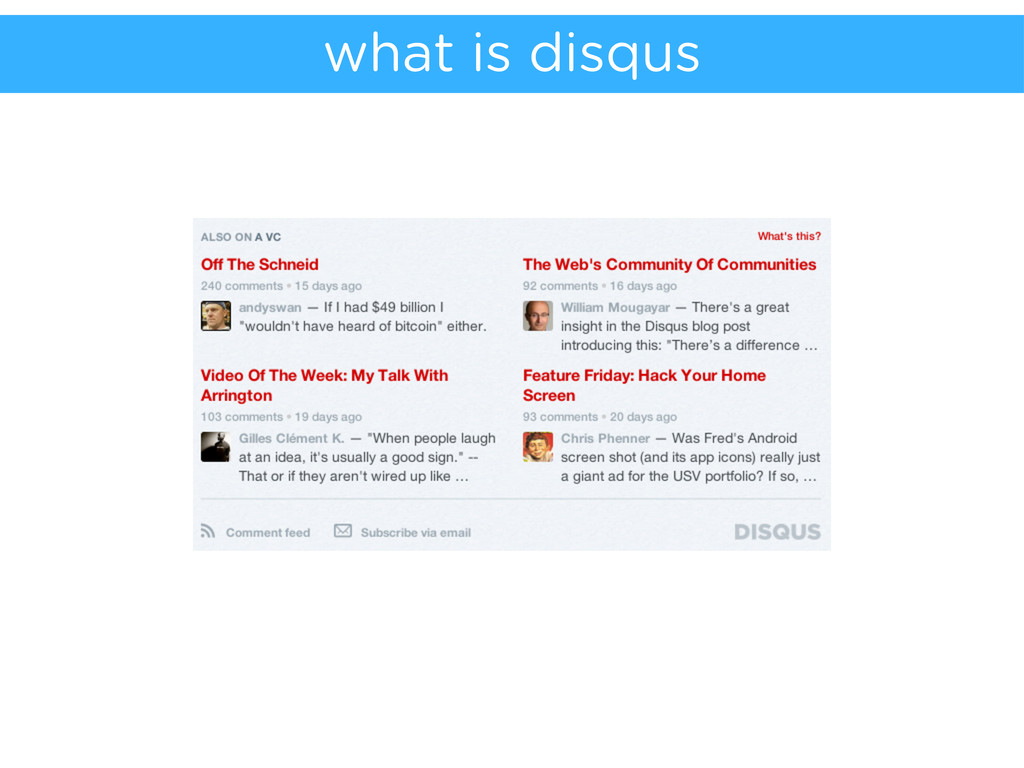what is disqus