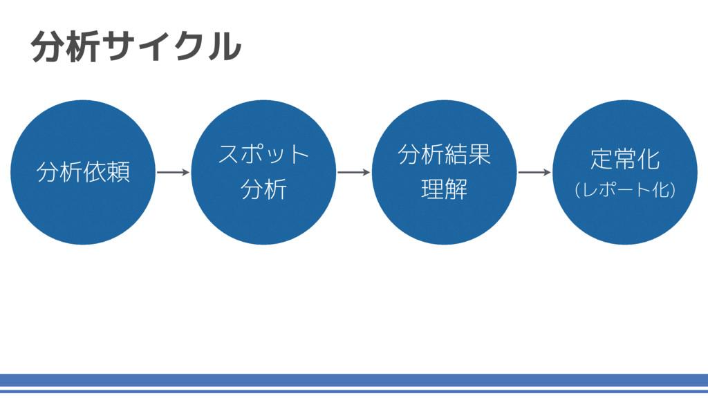 分析サイクル スポット 分析 分析結果 理解 定常化 (レポート化) 分析依頼