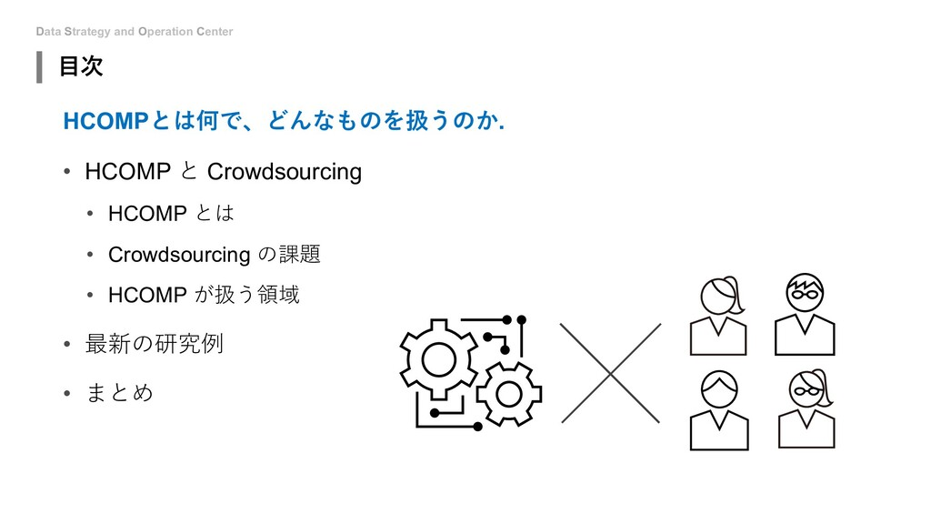 Data Strategy and Operation Center ⽬次 HCOMPとは何で...