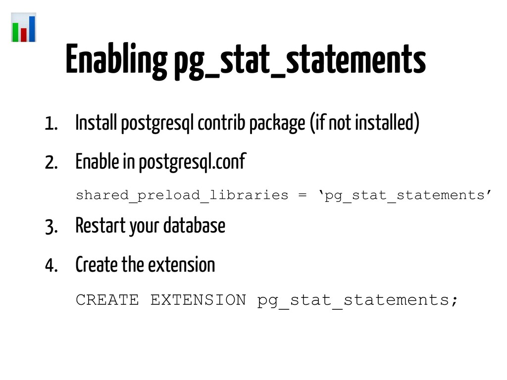 1. Install postgresql contrib package (if not i...