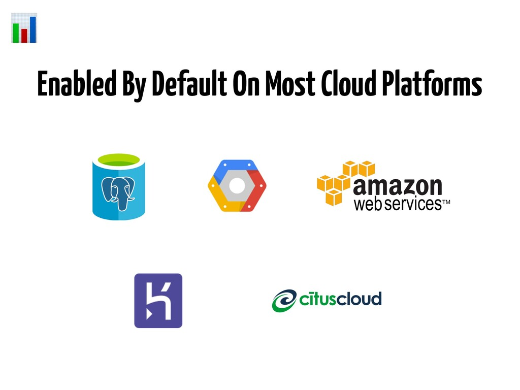 Enabled By Default On Most Cloud Platforms
