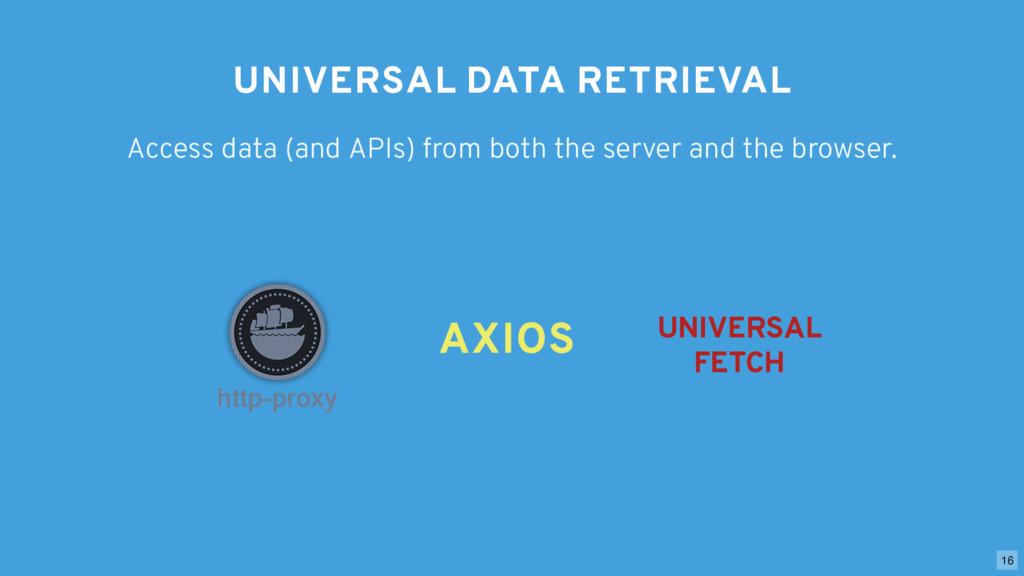 UNIVERSAL DATA RETRIEVAL Access data (and APIs)...