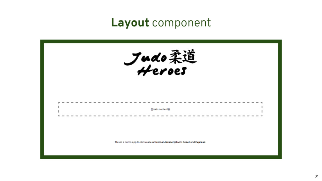 Layout component 31