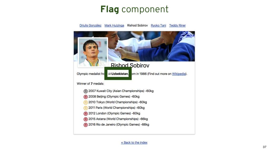 Flag component 37