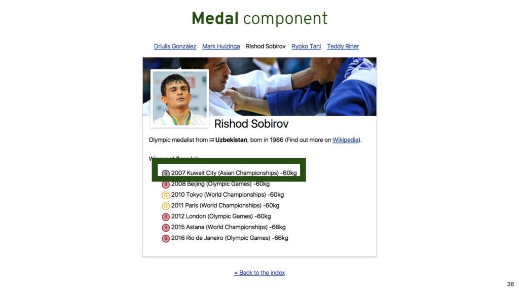 Medal component 38