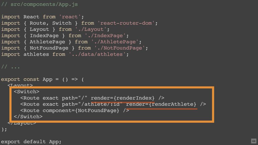 // src/components/App.js import React from 'rea...