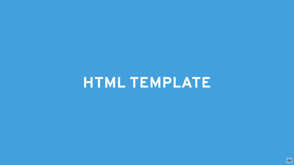 HTML TEMPLATE 48