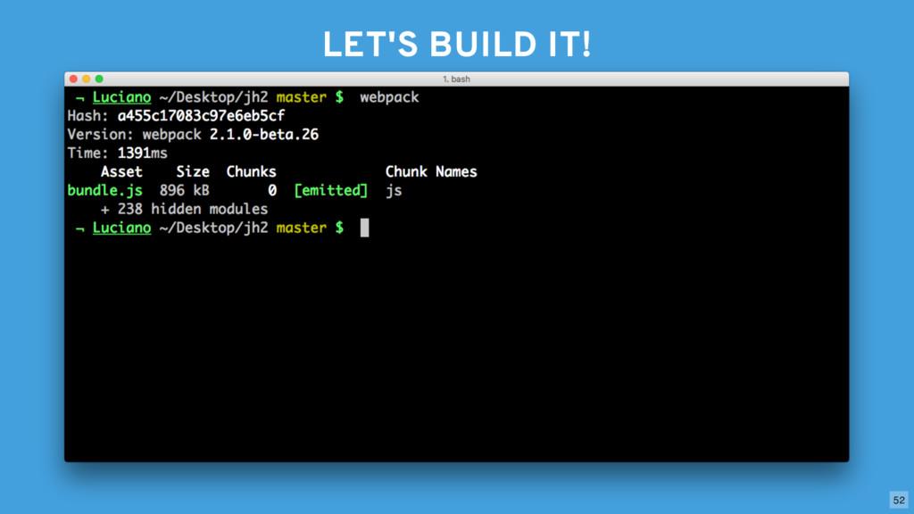 LET'S BUILD IT! 52