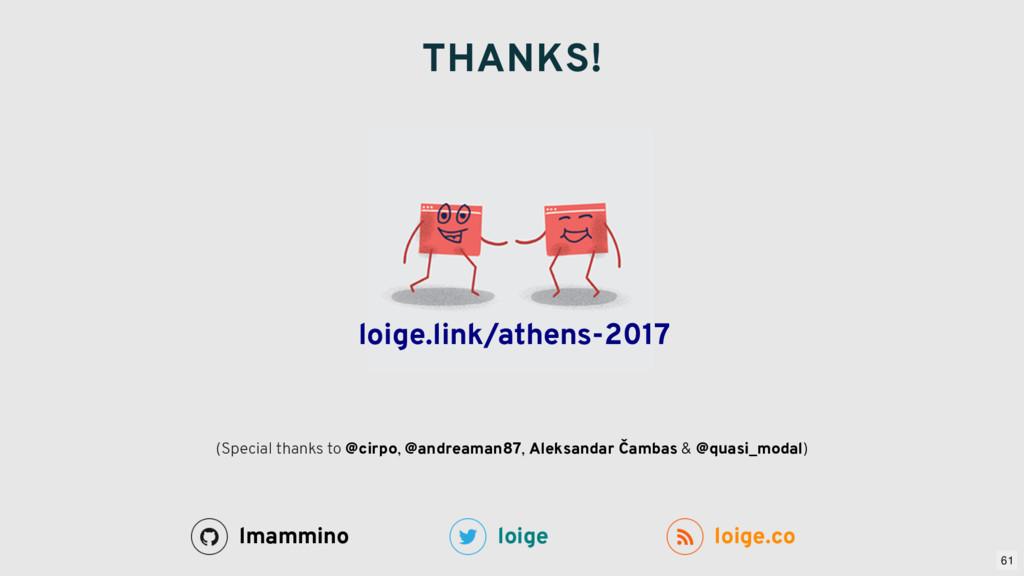 THANKS! loige loige.co lmammino (Special thanks...